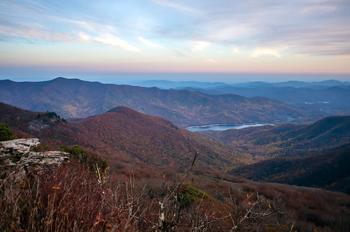 View of the Blue Ridge Mountains during fall season by DigiDreamGrafix.com