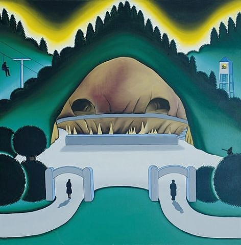Roger Brown, Cave Park, 1971, Oil on canvas