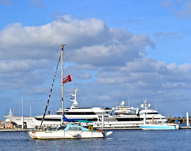 boats and yatch at the clematis street palm beach dock