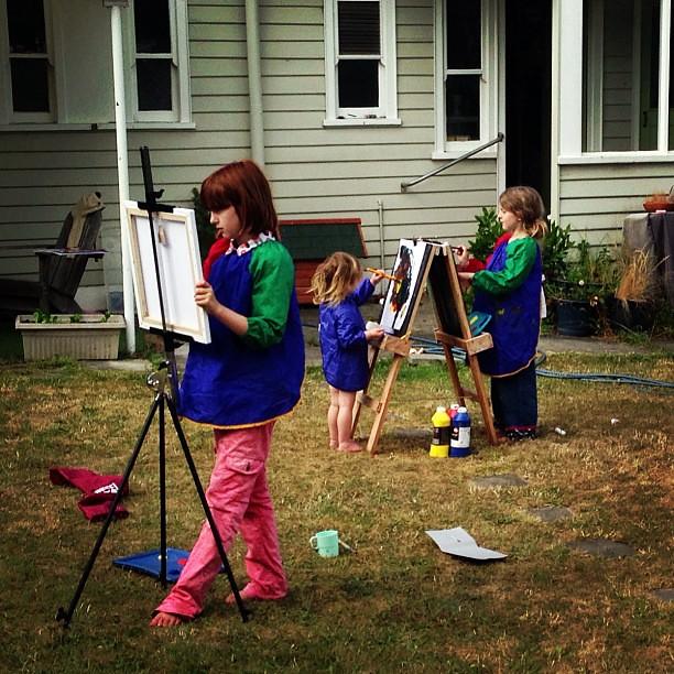 Arternoon #latergram #owlets #art #unschooling