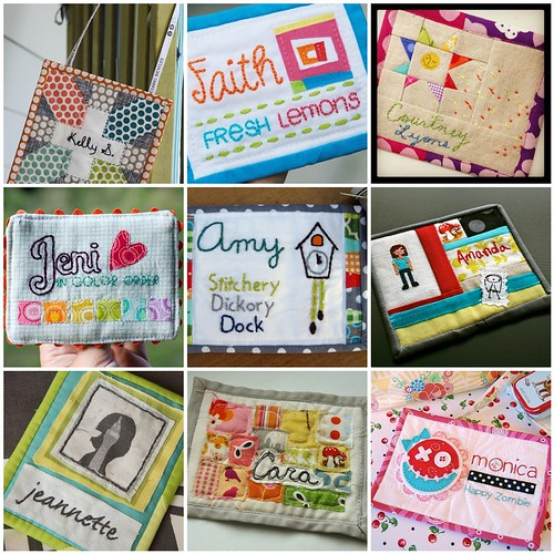 quilted name tag inspiration