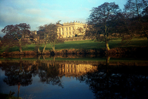 Chatsworth House and reflection by pho-Tony