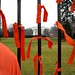 166 orange ribbons and the White House