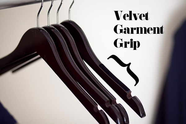 hanger velvet garment grip stickers