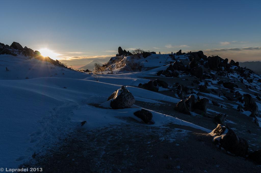 20130101 薬師岳の稜線