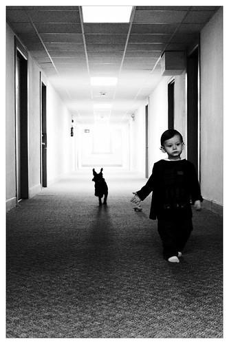 A boy & his dog.