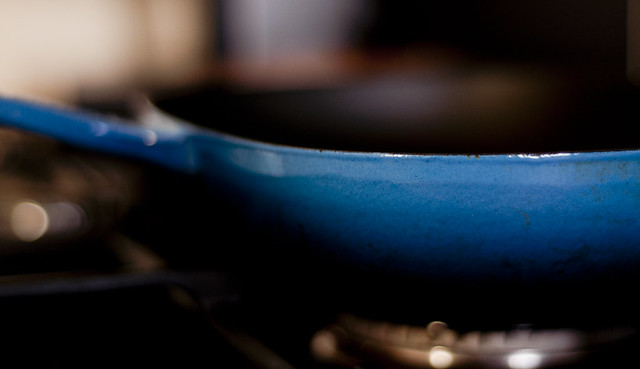 Blue Le Creuset Griddle
