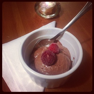 Chocolate raspberry ice cream