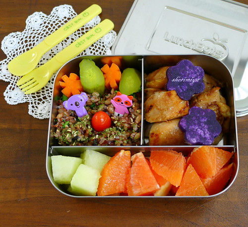 Shoyu Vinegar Chicken LunchBot Trio Bento by sherimiya ♥