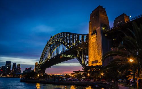 bridge sunset harbor harbour sydney australia nsw newsouthwales sydneyharbour sydneyharbourbridge mygearandme