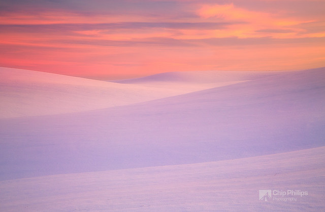 Winter Sunset Palouse Hills