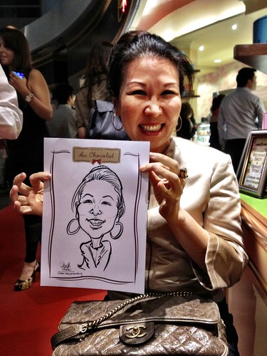 caricature live sketching for Au Chocolat Opening - 5