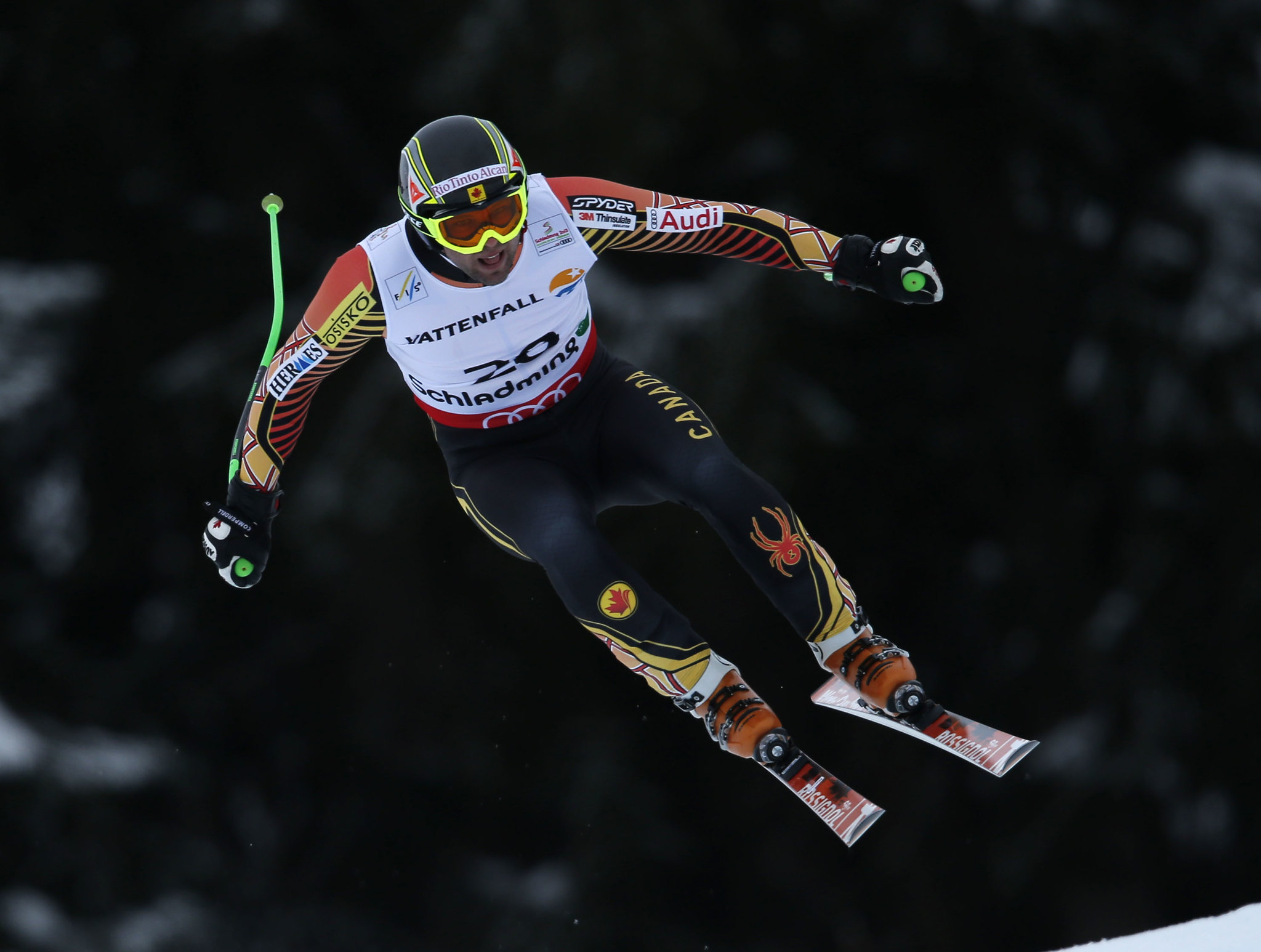 Manuel Osborne-Paradis continues the road to comeback with a 16th-place finish at the world championships in men's super-G in Schladming, Austria.
