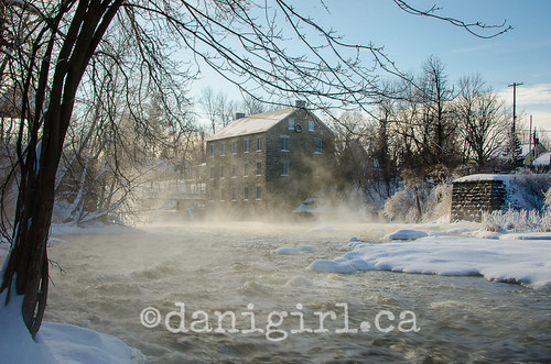 Mill on a frosty day