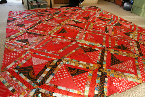 Red Diamond Coin Quilt