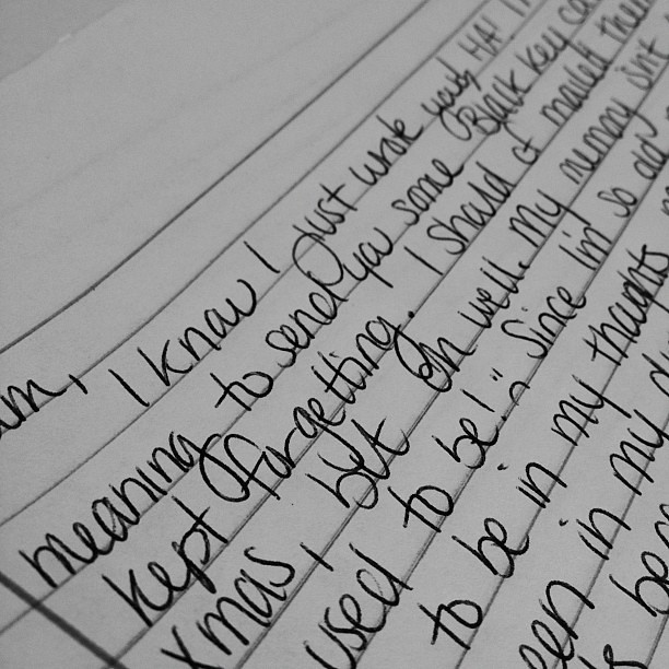 Day44 2.13.13  Been writing letters