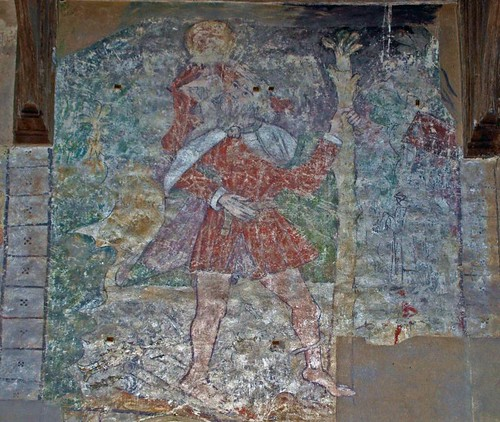 Wallpainting St Christopher (1)