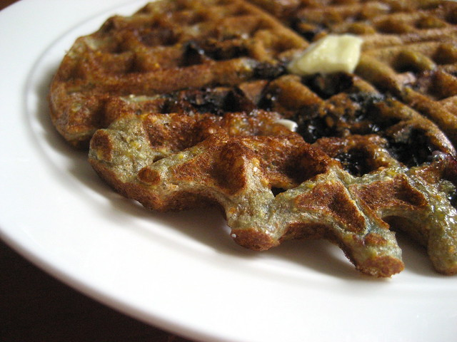 Blueberry Cornmeal Waffles