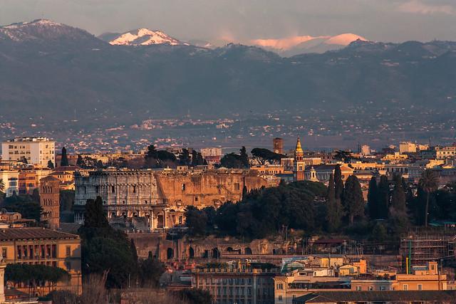 Rome as you'd never imagined - The Colosseo, Monti Prenestini and Appennini (Peaks: Scalambra, Ortara, La Monna)
