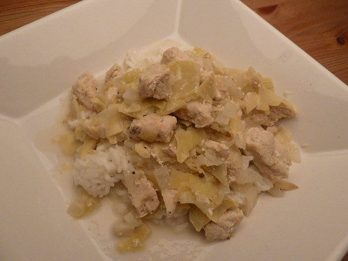Chicken with Artichokes in Creamy Mustard Sauce