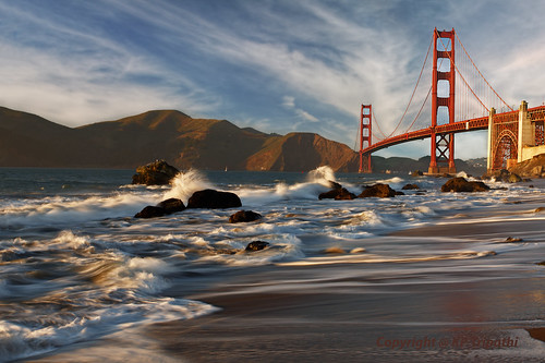 San Francisco: Golden Gate from Marshall Beach