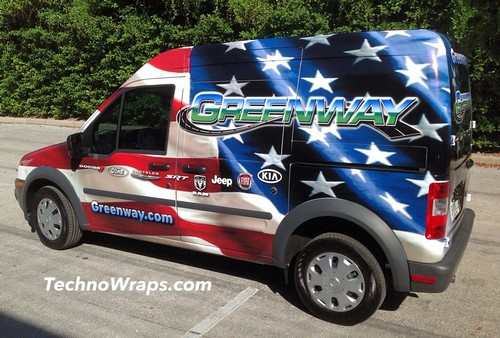 Ford Transit Connect vehicle wrap by TechnoSigns