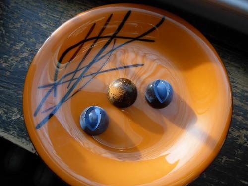 Orange Plate with Chocolates
