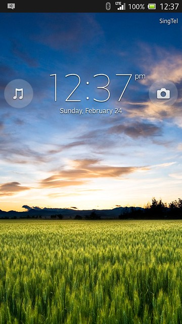 Sony Xperia Z - Lock/Home Screen