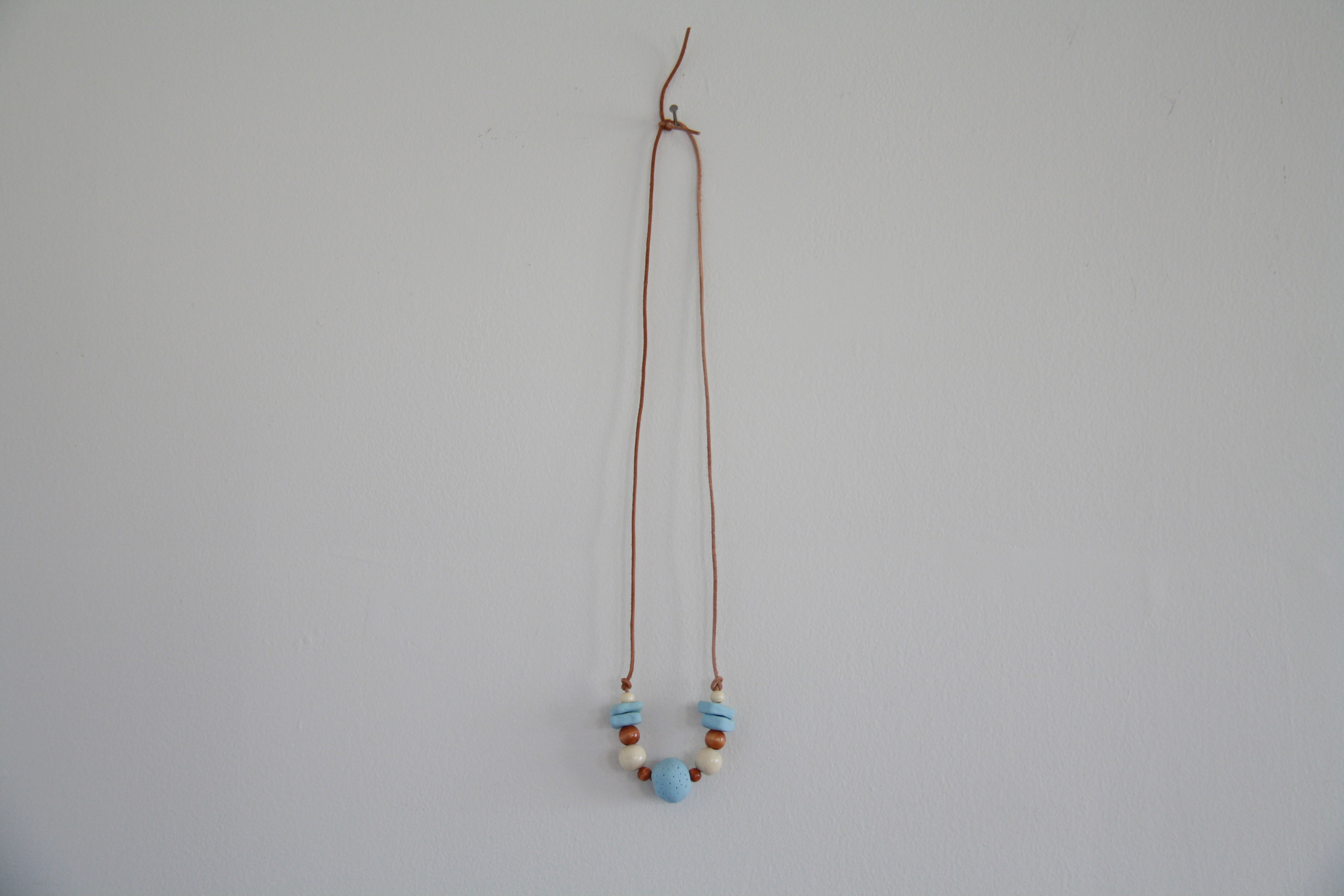 diy: clay bead necklace