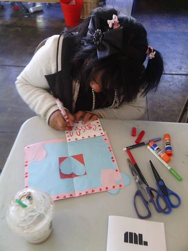 Teen zinester of color at RPS, February 2013