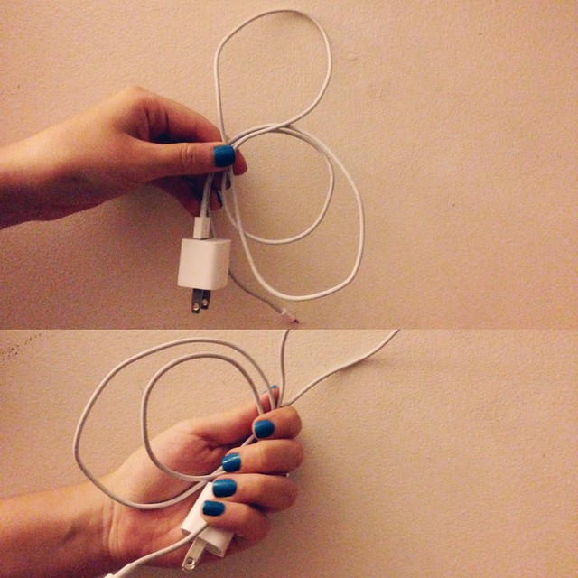 Washi Tape + iPhone Cable • DIY Wrapped iPhone Cord
