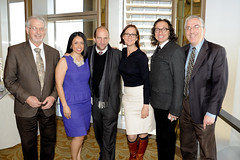 Photo: board members at Arts at the Core breakfast