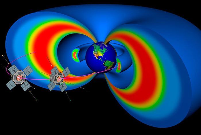 NASA's Van Allen Probes sample the Earth's magnetosphere.