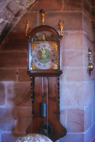 Clock in Ship Room at Lindisfarne Castle