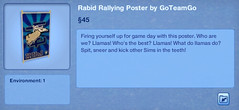 Rabid Rallying Poster by GoTeamGo