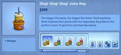 Glug! Glug! Glug! Juice Keg
