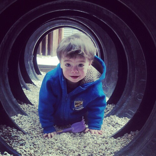 Tire Tunnel (from a quick stop at Lake Ridge, VA's Fantasy Playground)