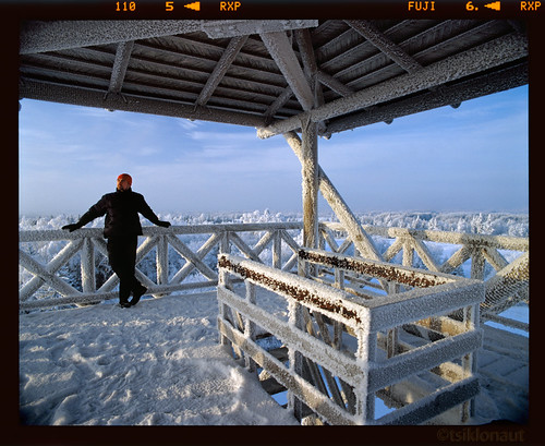 blue roof winter man cold color tower 120 film ice architecture analog landscape person frozen wooden construction estonia fuji view pentax drum room tube vivid slide dia scan 400 roll medium format iced analogue 6x7 smc 3000 provia e6 冬 f4 67 45mm kami cpl eesti blueish drumscan зима 爱沙尼亚 pmt otepää 400x rxp heliopan wetmount эстония エストニア scanview scanmate shpmc photomultiplier slx2001 fotokordisti