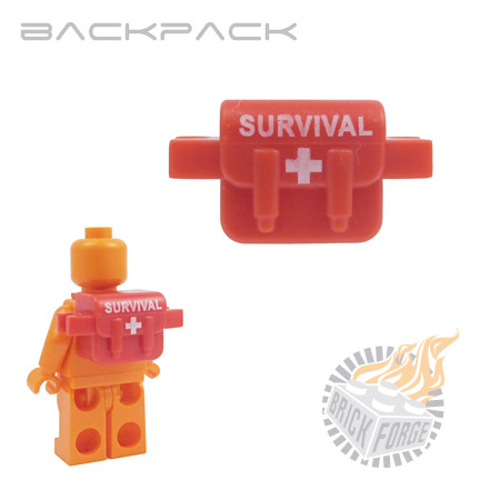 Backpack - Red (white Survival print)