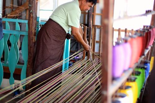 at a weaving shop