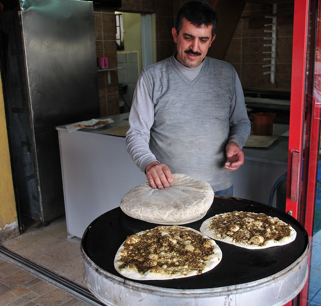 Manakish zaatar | Flickr - Photo Sharing!
