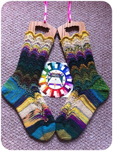 WILD Flower Socks by Beatrixknits