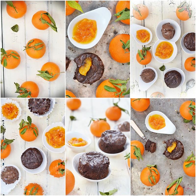 коллаж грязные кексы с мандаринами и мороженым