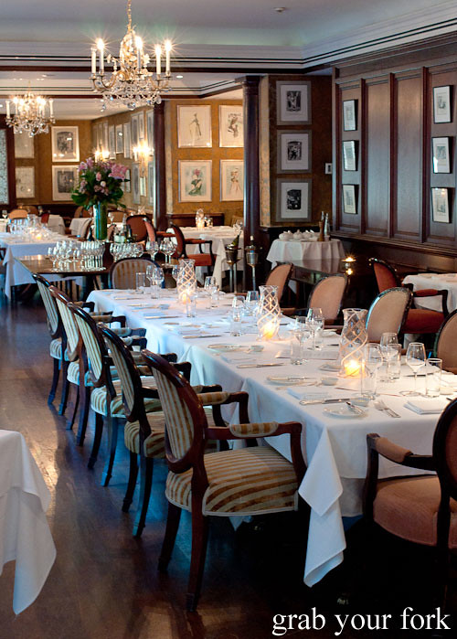 Galileo restaurant at the langham sydney grab your fork for The dining room sydney