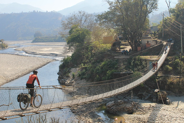The last suspension bridge of our Nepal trip