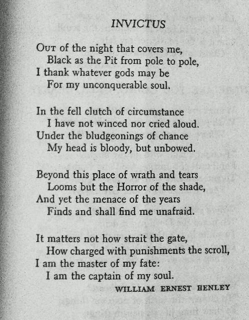 Invictus by W.E. Henley