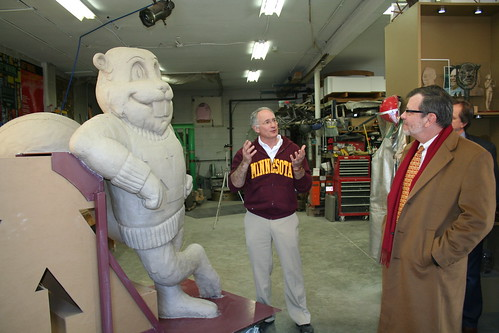 President Kaler with Goldy