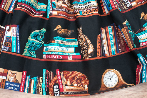 Cat Books Skirt