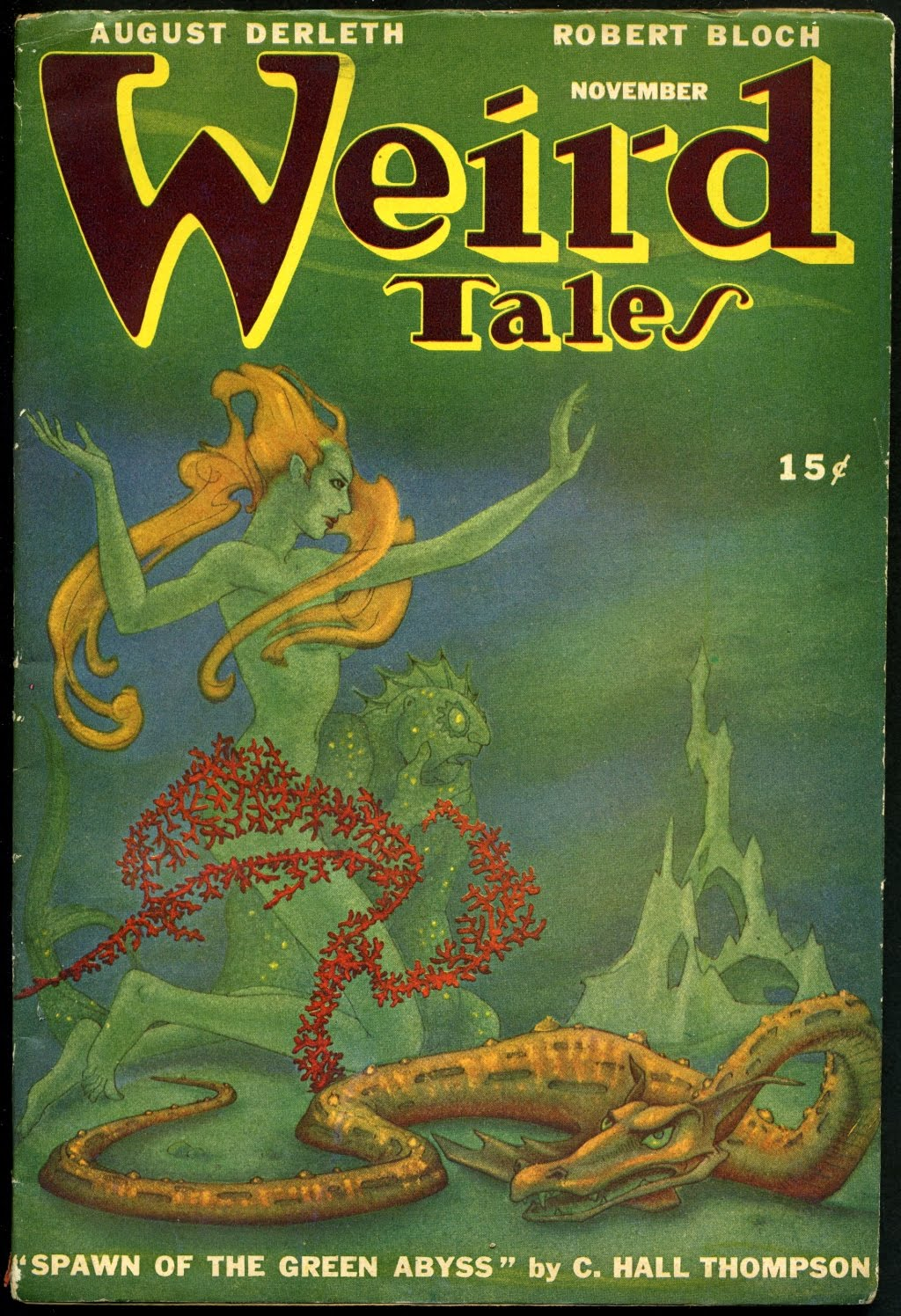 Boris Dolgov - Cover for Weird Tales, Volume 39, Issue 8, 1946