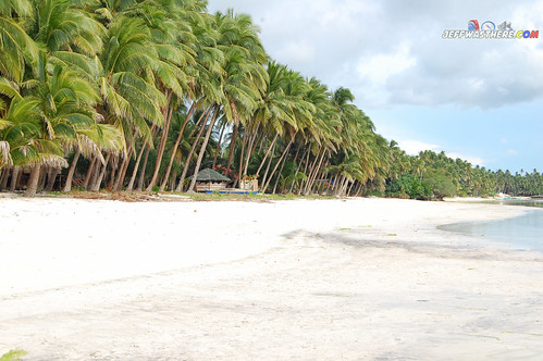 The white sand beach of San Juan, Siquijor